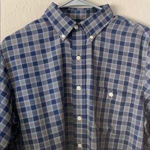 Checkered plaid blue longsleeve